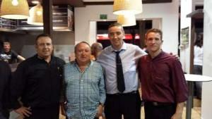 Con Fernando Esteso, y mis amigos Kiko y Miguelete