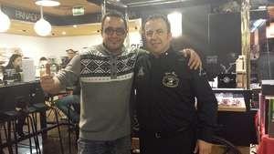 Con el amigo Luis Portales, de Toledo