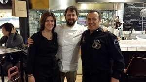 Con el chef Roberto Cabrera (Huerta de Carabaña) y la sumiller Ana María Lahiguera